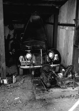 Auto mechanic shop at Civilian Public Service Camp #31