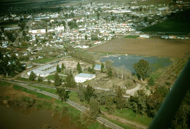 Aerial view of Reedley, California.