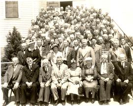 Delegates at the 1943 General Conference of Mennonite Brethren Churches convention in Buhler, Kansas
