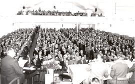 Delegates at the 1957 General Conference of MB Churches convention in Yarrow, B.C.