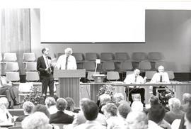 Jim Holm and Henry Schmidt at the 1990 General Conference of MB Churches