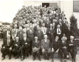 Delegates at the 1943 General Conference of Mennonite Brethren Churches convention in Buhler, Kans.