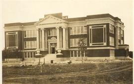 Tabor College administration building under construction, 1920