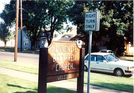 Sign for Dallas Mennonite Brethren Church