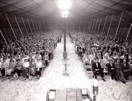 Audience at Brunk Revival meeting in British Columbia, 1958