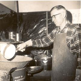 Albert Linscheid making soap