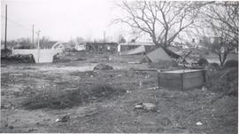 Damage from Yuba City flood, 1956