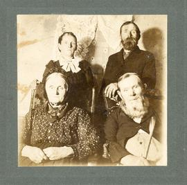 Margaretha and Jacob Peter Becker with two other unidentified people