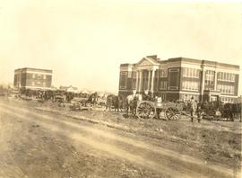 Tabor College administration building under construction