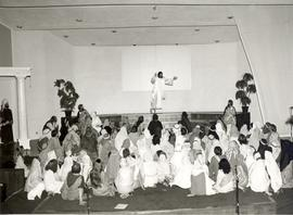 Ascension scene from Reedley Mennonite Brethren Church passion play, 1979