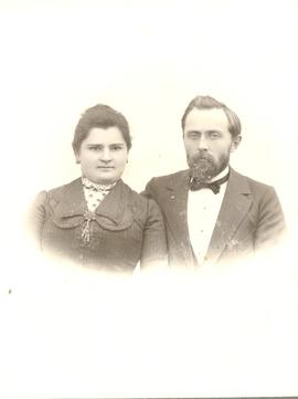 Kornelius Bergmann and his wife, Halbstadt