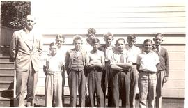Boy's Sunday school class, Dallas Mennonite Brethren Church