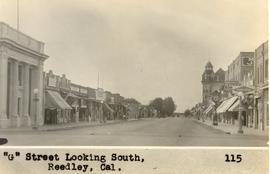 View to southeast along G Street in Reedley, California