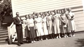 Girls Sunday school class, Dallas Mennonite Brethren Church