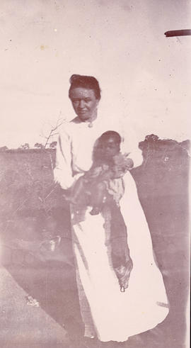 Katharina Schellenberg holding infant in India