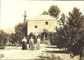 Mrs. D. W. Neufeld and daughters Anna and Marie, Escondido California