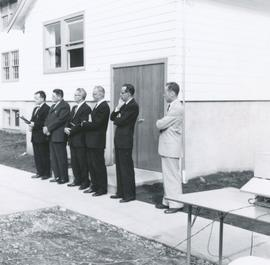 Staff and board members at a dedication