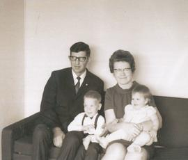 John, Bertha Balzer and family