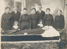 Jacob Enns in coffin