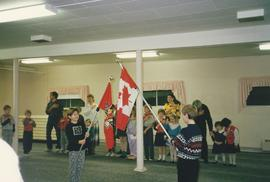 Awana flag ceremony.