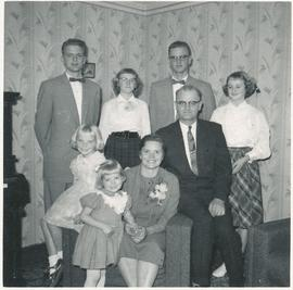 Herman and Katie (Janzen) Voth and family