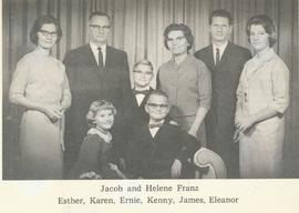 Jacob and Helene (Janzen) Franz with their family