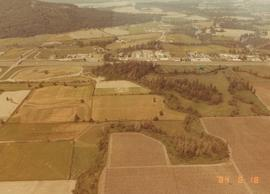 Aerial view of Chilliwack and Mennonite Heritage Museum