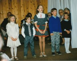 Youth participating in a christmas program