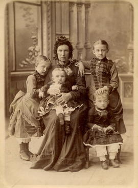 Bergmann Children with their Nanny