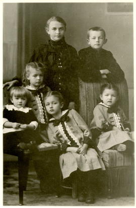 Herman Martens and his five Sisters