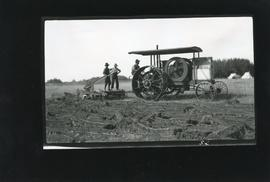 C. Kalbfleisch Ploughing with Gasoline Tractor