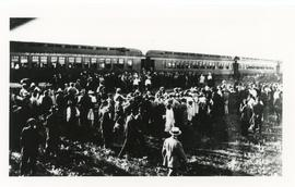 Russian Mennonites Arriving at Rosthern