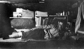 John H. Enns in bunk bed at Chalk River camp