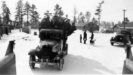 Conscientious objectors ready to leave for work at Montreal River Camp