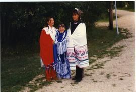 Children in Indigenous regalia