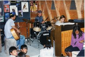 Band playing at camp