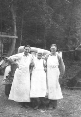 Kitchen staff at Seymour Mountain Park Alternative Service Camp