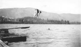 Swimming in Lake Cowichan