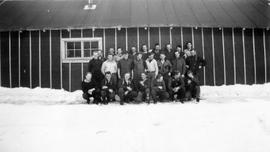 Group of conscientious objectors at Mile 10 Camp, Chalk River, Ontario